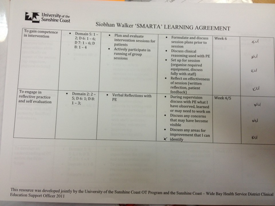 examplesmarta learning agreement goals siobhan walker